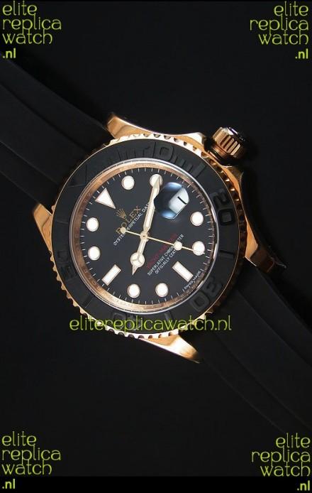 Rolex Yachtmaster 116655 Everose Gold Ceramic 1:1 Ultimate Mirror Replica Watch