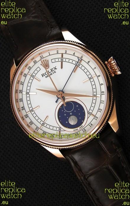 Rolex Cellini Moonphase Rose Gold REF# 50535 Swiss Replica Watch