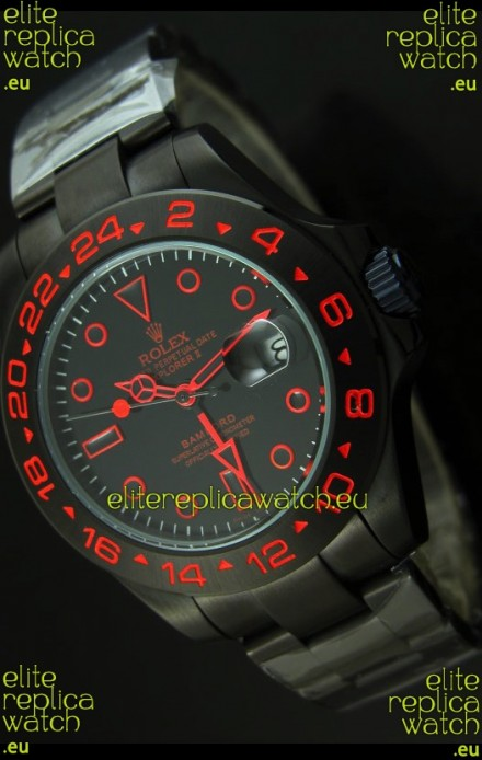 Rolex Explorer II Bamford Stealth and Flame Edition PVD Strap Replica Watch