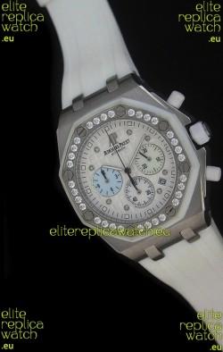 Audemars Piguet Royal Oak Offshore Lady Alinghi Swiss Watch in White Dial