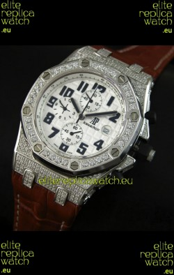 Audemars Piguet Royal Oak Offshore Quartz Watch with Diamonds Bezel