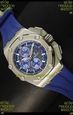 Audemars Piguet Royal Oak Offshore Michael Schumacher Quartz Movement Watch in Blue