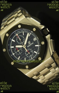 Audemars Piguet Royal Oak Offshore Watch in Black Dial - Steel Case