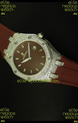 Audemars Piguet Royal Oak Ladies Watch in Brown