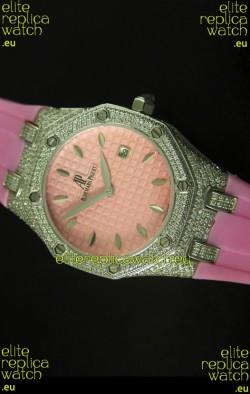 Audemars Piguet Royal Oak Ladies Watch in Pink