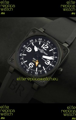 Bell and Ross BR01-93 GMT Japanese Replica Watch in PVD Case