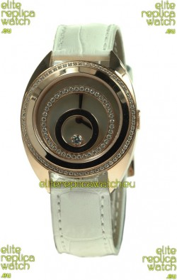 Chopard Happy Spirit Swiss Ladies Replica Gold Watch