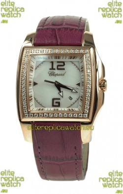 Chopard Two O Ten Ladies Swiss Replica Watch in Pink Strap