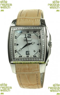 Chopard Two O Ten Ladies Swiss Replica Watch in Yellow Strap