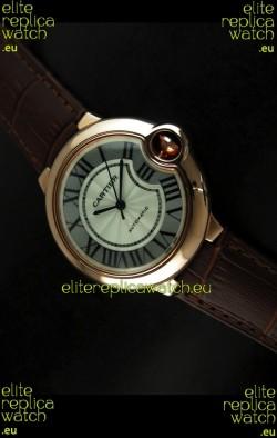 Ballon De Cartier Swiss Replica Watch in Rose Gold - 1:1 Mirror Replica
