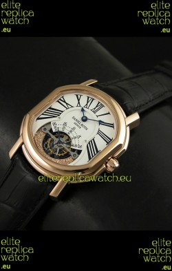 Daniel Roth Classic Tourbillon Swiss Watch in Rose Gold Case