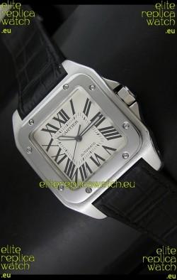 Cartier Santos 100 Swiss Automatic Watch - 1:1 Mirror Replica