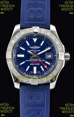 Breitling Avenger II Steel GMT Swiss Watch 1:1 Ultimate Edition - Blue Dial