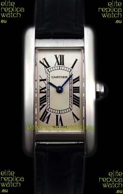 Cartier Tank Americaine Ladies Swiss Quartz Watch 1:1 Mirror Replica