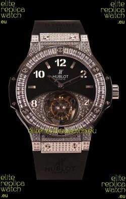 Hublot Tourbillon Solo Bang Sapphires Stainless Steel Swiss Watch