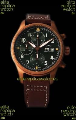 IWC Pilot's Chronograph Spitfire Broze Case - 1:1 Mirror Replica