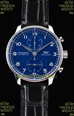 IWC Portuguese Chronograph Blue Dial 1:1 Mirror Swiss Watch