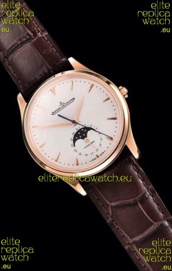 Jaeger LeCoultre Master Ultra Thin Moon Pink Gold 1:1 Mirror Replica Watch