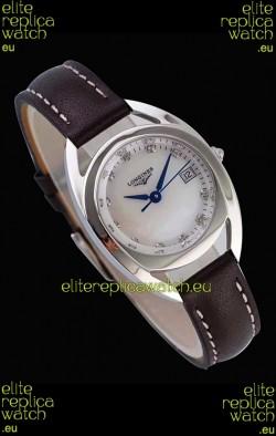 Longines Primaluna Ladies Pearl Dial Swiss Quartz Replica Watch