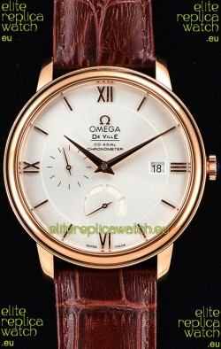 Omega Co-Axial Prestige Power Reserve Swiss Pink Gold Watch