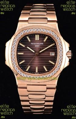Patek Philippe Nautilus 5711/1R 1:1 Mirror Watch Rounded Diamonds Bezel