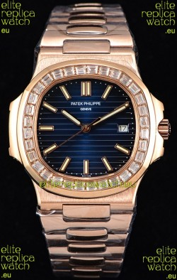 Patek Philippe Nautilus 5711/1R 1:1 Mirror Watch - Baguette Diamonds Bezel