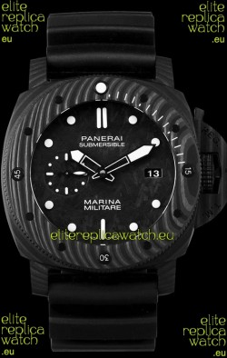 Panerai Submersible Marina Militare Carbotech 47MM 1:1 Mirror Swiss Watch