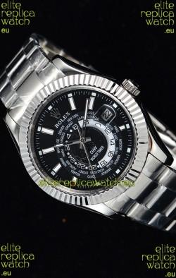Rolex SkyDweller Swiss Watch in Steel Case - DIW Edition Black Dial