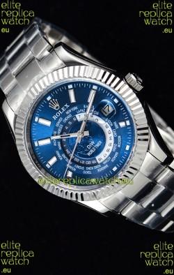 Rolex SkyDweller Swiss Watch in Steel Case - DIW Edition Blue Dial