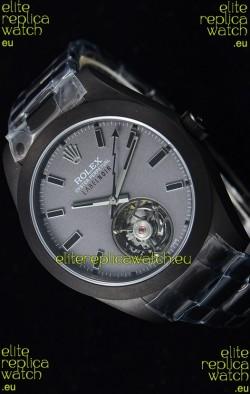 Rolex Milgauss LABELNOIR Tourbillon Swiss Replica Watch PVD Coated Case