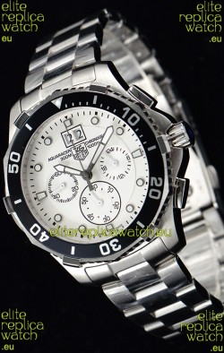 Tag Heuer Aquaracer Chronograph Swiss Quartz White Dial Watch