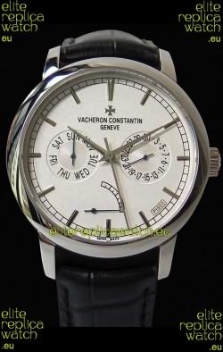 Vacheron Constantin Traditionnelle Day Date Steel Swiss Replica Watch