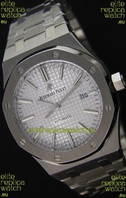 Audemars Piguet Royal Oak 41MM Silver Dial Steel Strap  - 1:1 Mirror Ultimate Edition