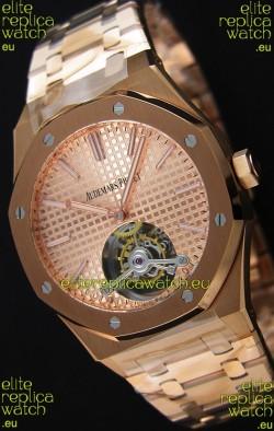 Audemars Piguet Royal Oak Tourbillon 41mm Extra-Thin Pink Gold Dial Watch
