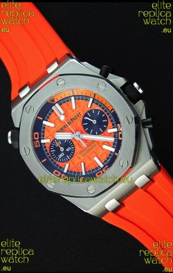 Audemars Piguet Royal Oak Offshore Diver Chronograph Swiss Quartz Replica Watch in Orange