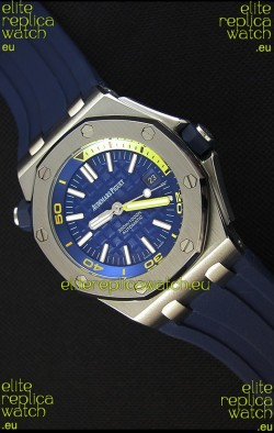 Audemars Piguet Royal Oak Offshore Diver Japanese Automatic Replica Watch in Dark Blue