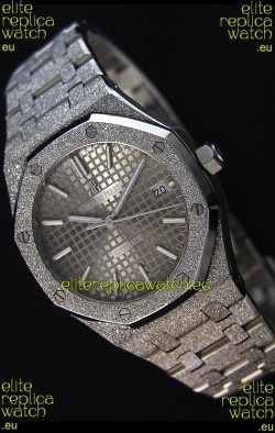 Audemars Piguet Royal Oak Frosted Self-Winding White Gold Grey Dial 1:1 Mirror Replica Watch