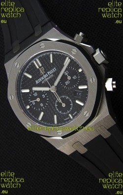 Audemars Piguet Royal Oak Chronograph Black Dial Rubber Strap Swiss Replica Watch