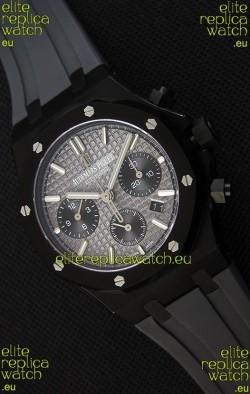 Audemars Piguet Royal Oak Chronograph Slate Grey Dial Rubber Strap PVD Case Swiss Replica Watch