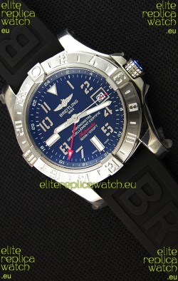 Breitling Avenger II GMT Swiss Replica Watch in Black Dial 1:1 Mirror Replica Version