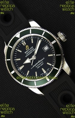 Breitling SuperOcean Heritage II B20 42MM Black Dial Green Bezel Swiss Replica Watch - 1:1 Mirror Edition