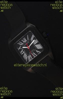 Cartier Santos DLC Swiss Replica Watch 38.5MM
