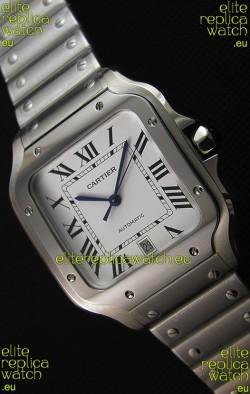 Cartier Santos De Cartier 1:1 Mirror Replica - 36MM Stainless Steel Watch