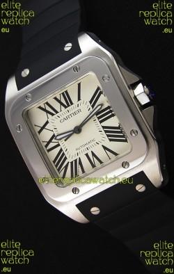 Cartier Santos De Cartier 1:1 Mirror Replica Watch 39MM Rubber Strap