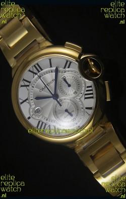 Ballon De Cartier Chronograph in Yellow Gold Case - 1:1 Mirror Replica