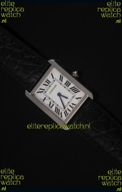 Cartier Tank Solo Swiss Quartz Leather Strap Mid Size 28MM Wide