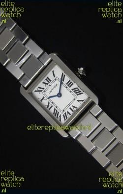 Cartier Tank Solo Swiss Quartz Watch in Steel Strap 28MM Wide