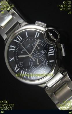 Ballon De Cartier Chronograph in Stainless Steel Case - 1:1 Mirror Replica