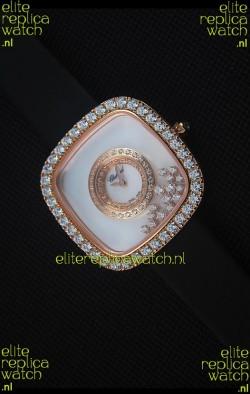 Chopard Happy Diamonds 38MM Black Strap in White Dial