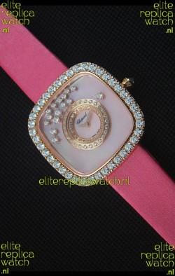 Chopard Happy Diamonds 38MM Pink Strap in Pink Dial
